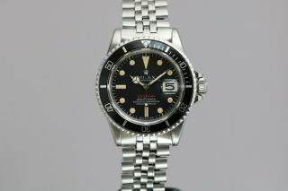 "Rolex Submariner 1680 ""Red Sub"" Vintage Automatic Dive Watch Circa 1970s 2"
