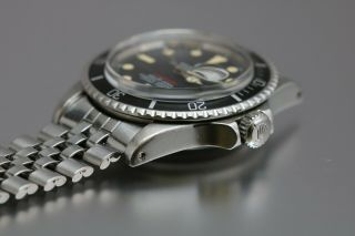 """Rolex Submariner 1680 """"Red Sub"""" Vintage Automatic Dive Watch Circa 1970s 7"""