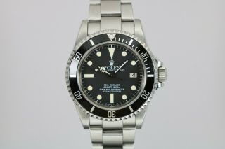 "Rolex Sea - Dweller 16660 Vintage Dive Watch ""triple 6"" Circa 1980s Matte Dial"