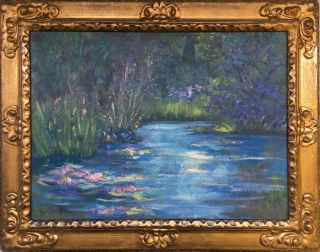 Claude Monet 1905 Signed Antique Large Oil / Canvas Painting French?