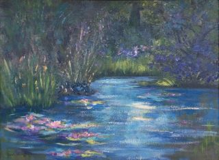 Claude Monet 1905 signed antique large oil / canvas painting French? 2
