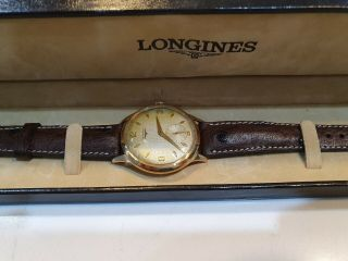 Longines Vintage 18 Ct Solid Gold,  37 Mm Case Without Crown,  Rare