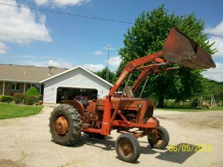 Allis Chalmers D 17 Antique Tractor Loader 3 Pt Ps Farmall Deere B G