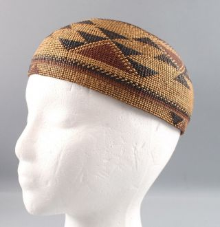 Antique Western California Native American Hupa Indian,  Basket Hat,  NR 2