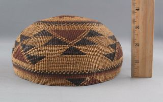 Antique Western California Native American Hupa Indian,  Basket Hat,  NR 3