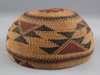 Antique Western California Native American Hupa Indian,  Basket Hat,  NR 5