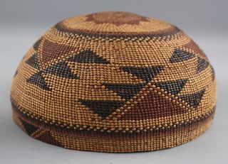 Antique Western California Native American Hupa Indian,  Basket Hat,  NR 6