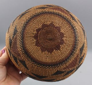 Antique Western California Native American Hupa Indian,  Basket Hat,  NR 7