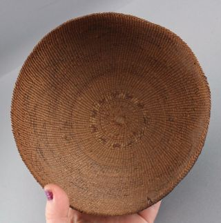 Antique Western California Native American Hupa Indian,  Basket Hat,  NR 8