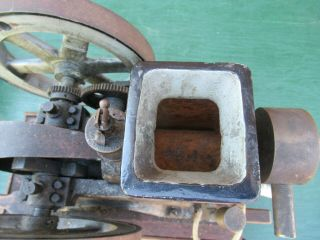VERY RARE Antique Cast Iron Miniature Stationary Engine Hit and Miss 10