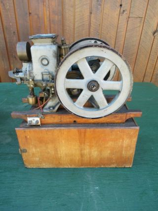Very Rare Antique Cast Iron Miniature Stationary Engine Hit And Miss