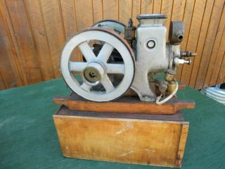 VERY RARE Antique Cast Iron Miniature Stationary Engine Hit and Miss 5