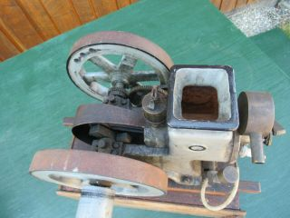 VERY RARE Antique Cast Iron Miniature Stationary Engine Hit and Miss 6