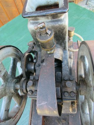 VERY RARE Antique Cast Iron Miniature Stationary Engine Hit and Miss 8