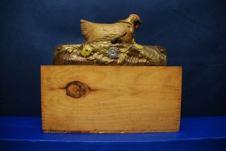 "Antique Cast Iron Mechanical Bank – J.  & E.  Stevens – ""Hen and Chicken Bank"" 10"