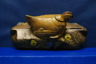 "Antique Cast Iron Mechanical Bank – J.  & E.  Stevens – ""Hen and Chicken Bank"" 5"