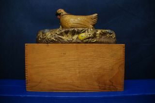 "Antique Cast Iron Mechanical Bank – J.  & E.  Stevens – ""Hen and Chicken Bank"" 9"