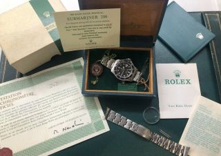Vintage Rolex Red Submariner 1680 From 1970 With Rare Punched Papers Full Set
