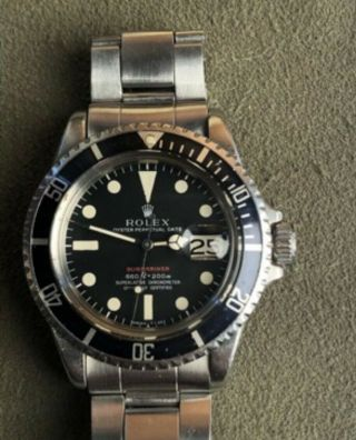 Vintage Rolex Red submariner 1680 From 1970 With Rare Punched Papers Full Set 2
