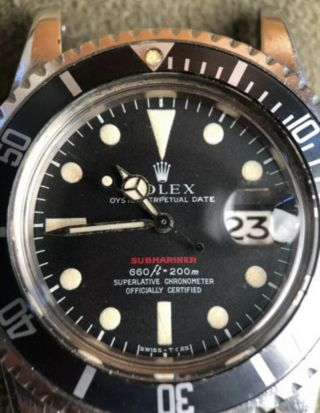 Vintage Rolex Red submariner 1680 From 1970 With Rare Punched Papers Full Set 3