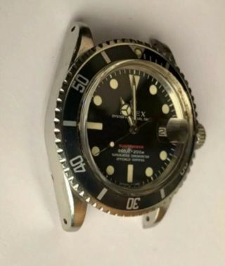 Vintage Rolex Red submariner 1680 From 1970 With Rare Punched Papers Full Set 5
