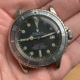 1970's Vintage Rolex Submariner Ref.  1680 Red MK4 Full Set Double Punched Papers 2