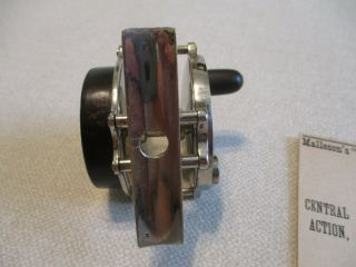 Ca.  1885 Malleson Multiplying Reel,  Exceedingly Rare 6