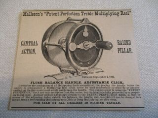 Ca.  1885 Malleson Multiplying Reel,  Exceedingly Rare 9