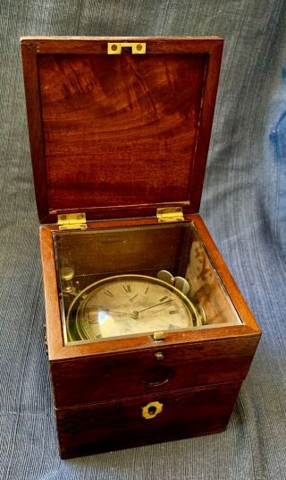Rare 1839 Arnold & Dent Marine Nautical Ship Chronometer Clock 19th Century