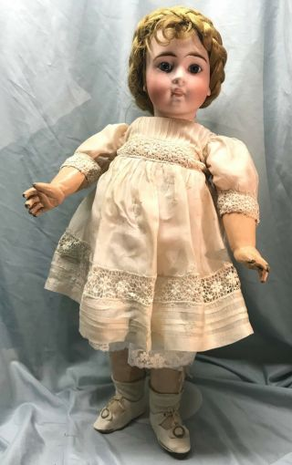 Antique Sonnenberg Bebe Marked 136 On Early Jumeau Body Perfect - Bargain Price
