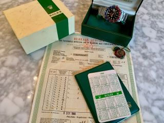 Vintage Rolex 1675 Tropical Gilt Gmt - Box & Papers - Unpolished - 1966
