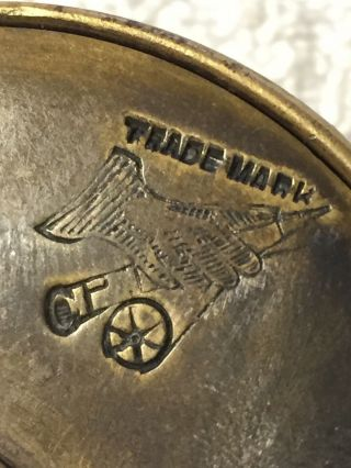 """Ultra Rare Hardy All Brass 2 3/4"""" Perfect W Hardy D Block Case Shaded Rod - hand 10"""