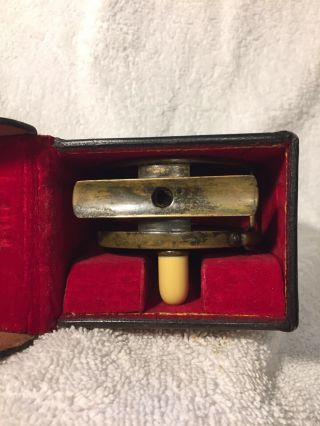"""Ultra Rare Hardy All Brass 2 3/4"""" Perfect W Hardy D Block Case Shaded Rod - hand 12"""