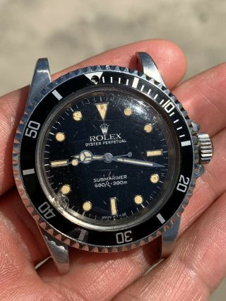 Vintage 1970's Rolex Submariner Watch 5513 5512 1680 Diver