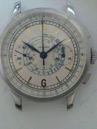 Vintage Longines 13zn Stainless Steel Chronograph