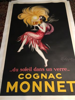 "Leonetto Cappiello,  1927,  Cognac Monnet,  ""sunshine In A Glass"""