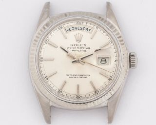 Rare Vintage 1971 Rolex 18k White Gold 1803 Day - Date Out Of Estate