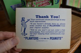 RARE Antique Planters Peanuts FULL Display Box 24 bags Candy Coated Peanuts 5