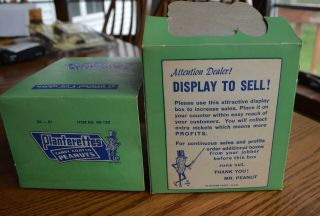 RARE Antique Planters Peanuts FULL Display Box 24 bags Candy Coated Peanuts 7