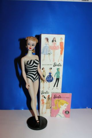 Vintage Barbie Ponytail 1,  Booklet And Stand
