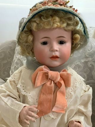 VERY RARE Large Antique German 1488 Character Simon & Halbig Baby Doll 2