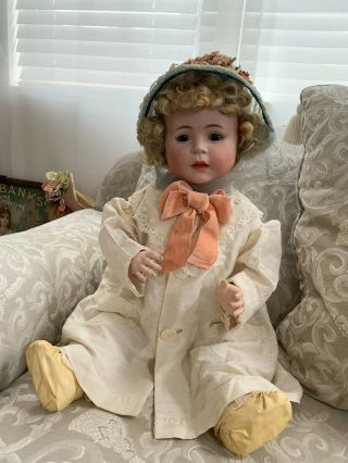 VERY RARE Large Antique German 1488 Character Simon & Halbig Baby Doll 3