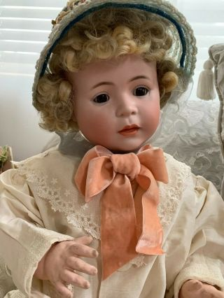 VERY RARE Large Antique German 1488 Character Simon & Halbig Baby Doll 5