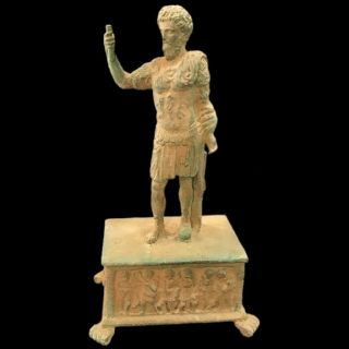 Roman Ancient Bronze Statue - 200 - 400 Ad (2) Large 27.  5 Cm Tall