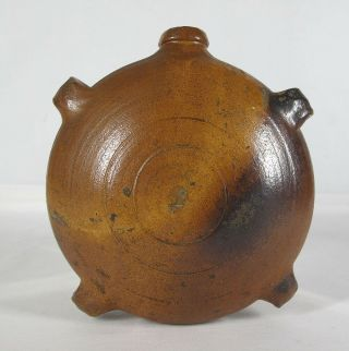 Antique 19th C French Stoneware Harvest Canteen From Normandy France Nr Yqz