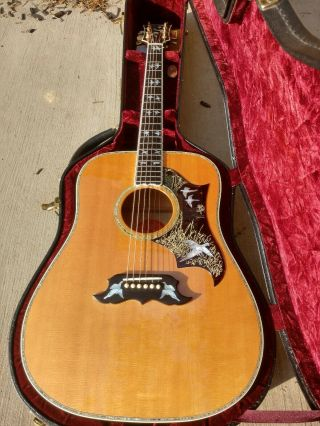 Gibson Acoustic Doves In Flight Antique Cherry Finish On Maple