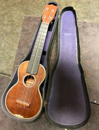 Antique Martin Ukulele Style 3 With Case Nr