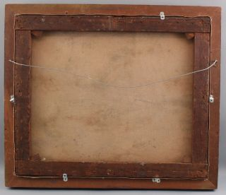 Antique Astley A.  D.  M.  Cooper Western Landscape Native American Indian Painting 9