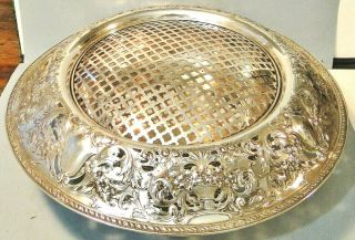 "Massive Ornate Gorham Sterling Silver Centerpiece Bowl,  Frog 20 "" 121 Oz 1915"
