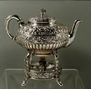 Tiffany Sterling Silver Teapot & Stand 1889 Moorish Design